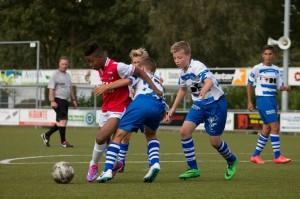 Wedstrijdbeeld AZ-AA Gent van 15 augustus (1-0). Foto: Wilemien van Duinen.
